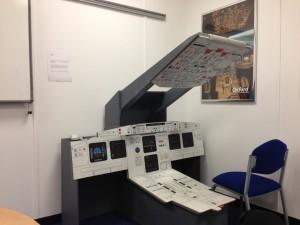 full motion A320 flight simulator dash
