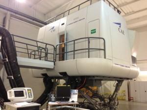 full motion A320 flight simulator door