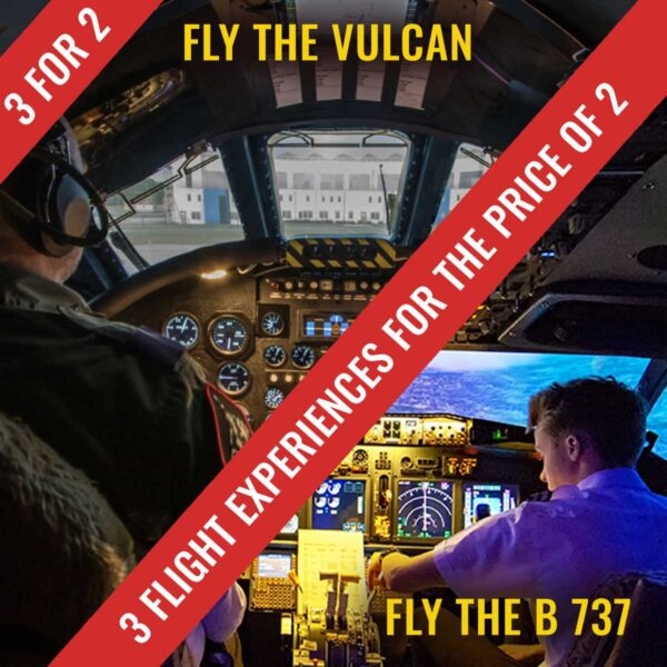 The ad for 3 for 2 in the Vulcan or 737